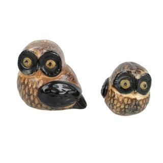 Otagiri OMC Japanese Porcelain Owls , A Pair