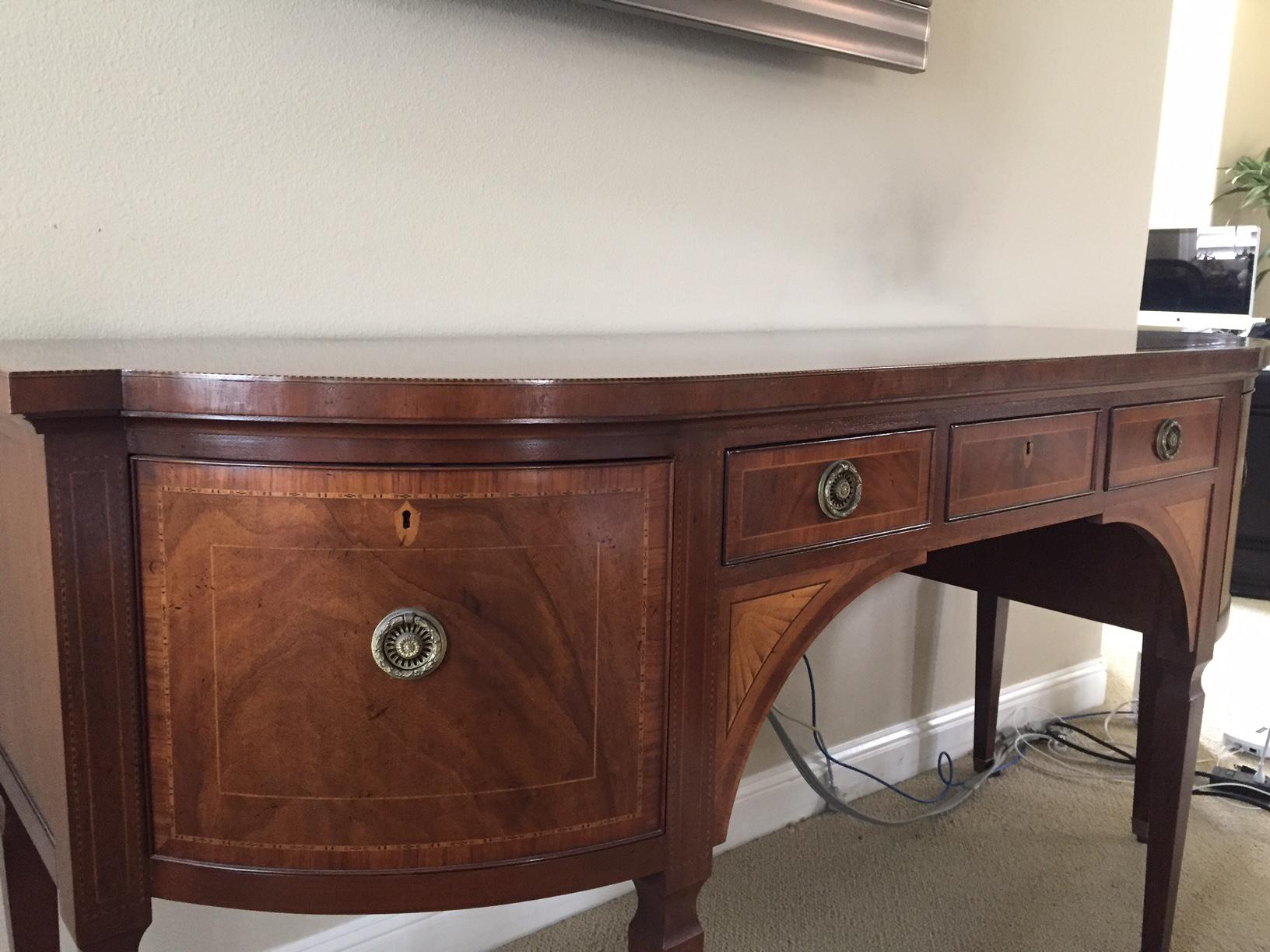 Chippendale Mahogany Buffet Table   Image 3 Of 5