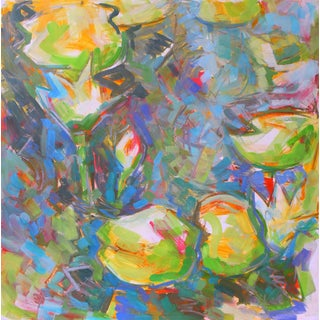 "Trixie Pitts ""Water Lilies 3"" Abstract Landscape Painting"