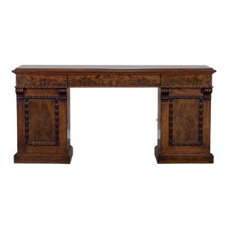 Antique English Mahogany Pedestal Sideboard Buffet circa 1850