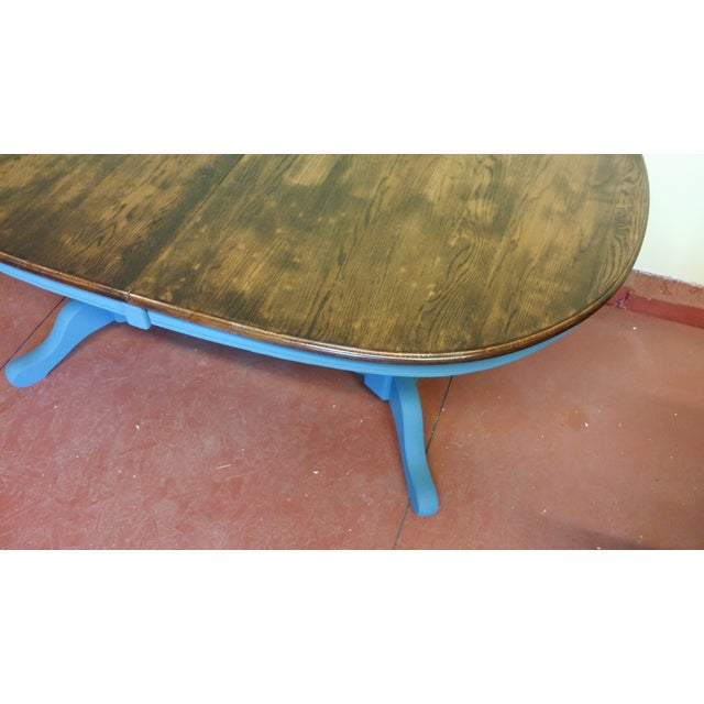 Image of Blue Shabby Chic Dining Table
