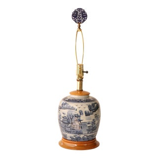 Blue & White Chinese Ginger Jar Table Lamp