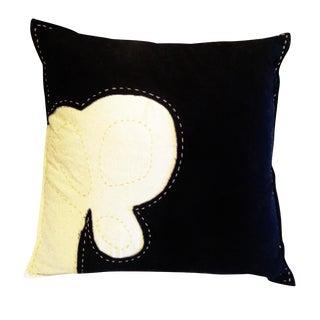 DVF Miro Pickstitch Black Sham Pillows - A Pair