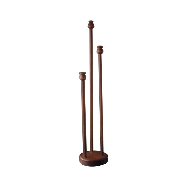 Transitional Style Wood Candle Holder - Image 1 of 10