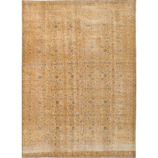 "Pastel Vintage Turkish Overdyed Rug - 7'1"" x 10'0"""