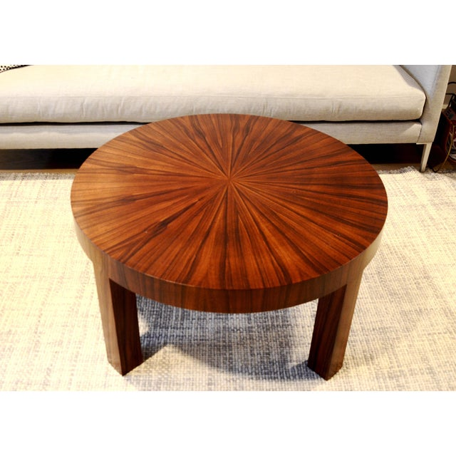 Image of Art Deco Jean Michel Frank Style Circular Wood Coffee Table