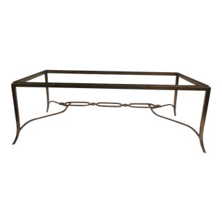 1950s Solid Cast Bronze Coffee Table