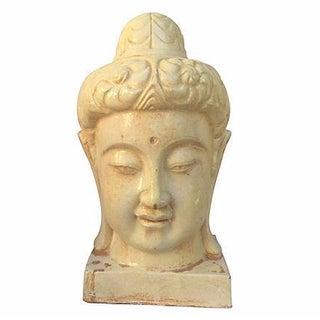 Chinese Ivory Ceramic Buddha Head