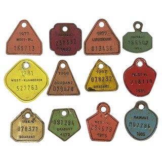 European Metal Bicycle Tags - Set of 12