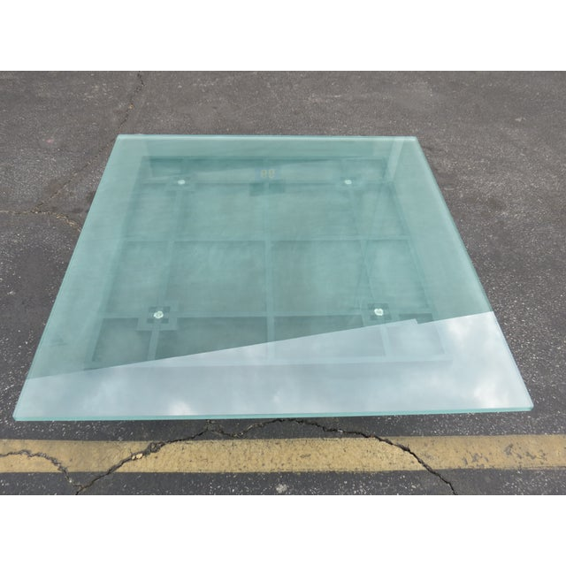 New Italian Square Glass Top Coffee Table - Image 3 of 9
