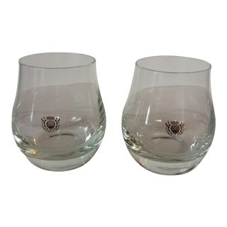 George & J. G. Smith Scotch Whiskey Snifter Glasses - A Pair