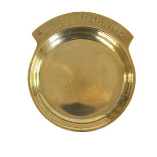 Vintage Gold Brass Small Pocket Change Catch All Dish Plate