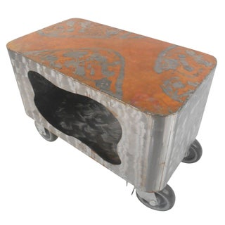 Wild Steel Copper Top Raw Paul Evans Style Finish Coffee Table