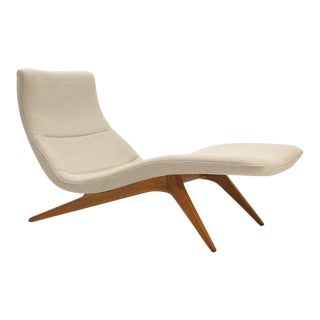Vladimir Kagan Chaise Longue, Model 177ls Kagan-Dreyfuss, Inc. USA, circa 1959