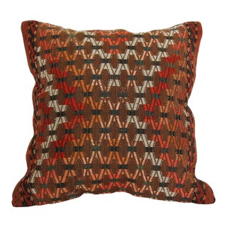 "Turkish Kilim Pillow - 16"" x 16"""