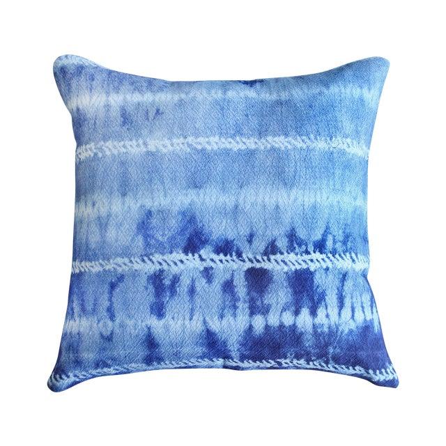 "New Tie Dyed ""Shibori Avani"" Handmade Bali Pillow - Image 1 of 3"