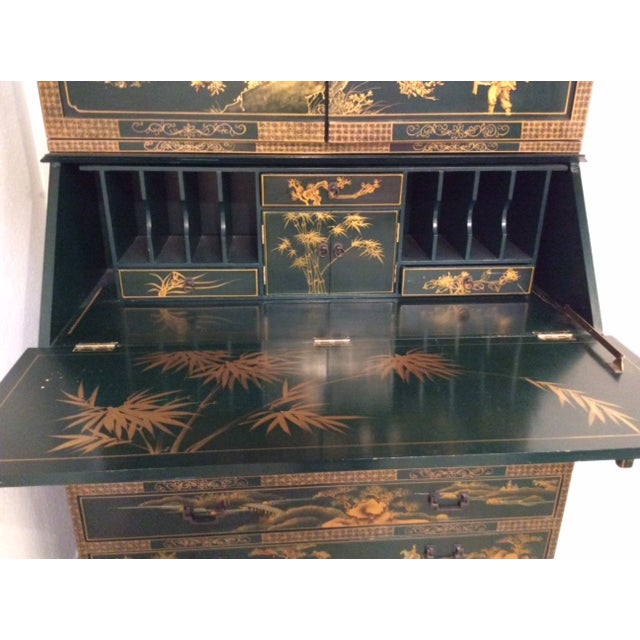 Vintage Chinoiserie Chippendale Secretary - Image 9 of 11