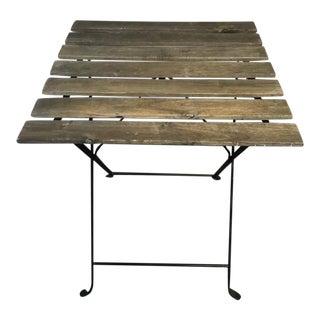 Carved Oak Adirondack Style Patio Table