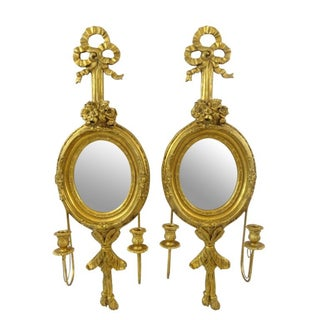 Gilt Two-Light Wall Sconces - Pair