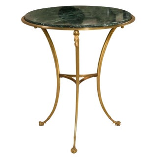 Maison Charles Bronze & Marble Gueridon Side Table