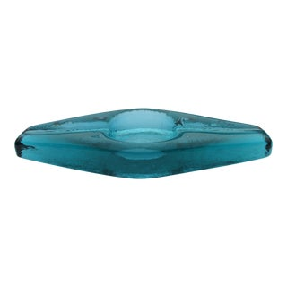 Blenko Mid-Century Modern Atomic Glass Ashtray