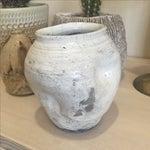 Image of Vintage White Raku Pot Planter