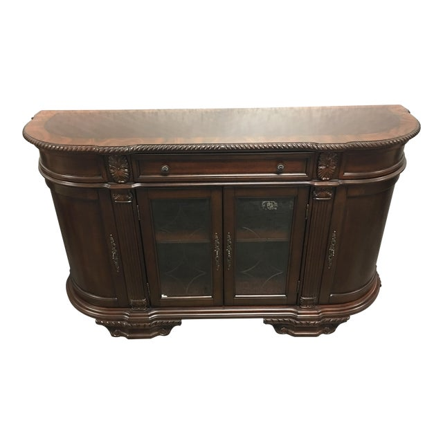 Bellagio Brown Cherry Finish Server Buffet Cabinet - Image 1 of 11