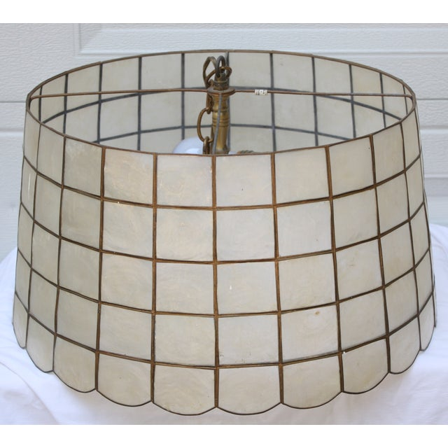 1970s Capiz Shell Pendant Light - Image 2 of 4