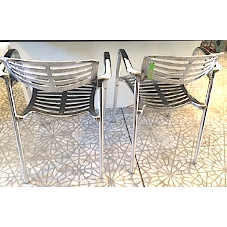 Vintage Aluminum Chairs - a Pair - Image 3 of 3