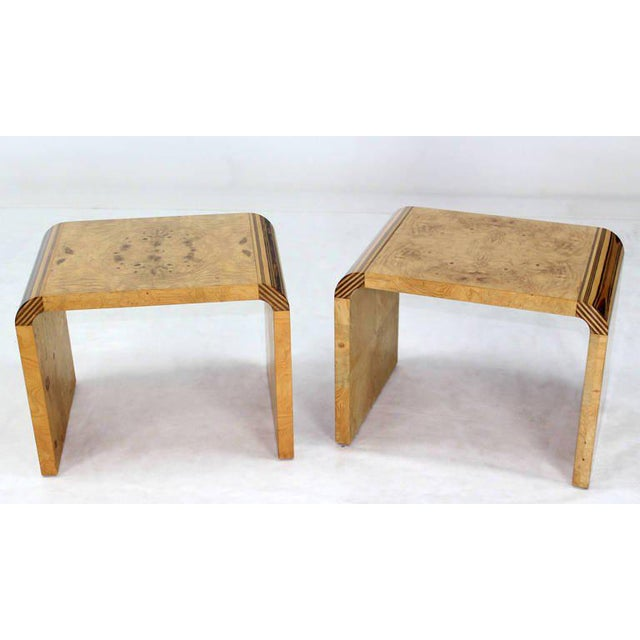 Pair of Mid Century Modern Burl Wood Benches by Henredon   Image 8 of 10. World Class Pair of Mid Century Modern Burl Wood Benches by