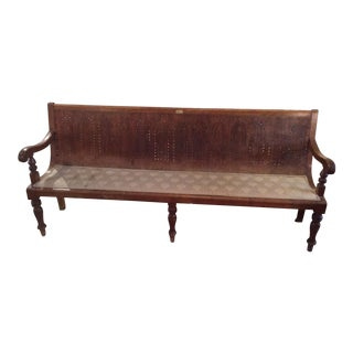 Antique British Wood Bench