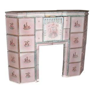 Austrian Pink Tile Mantel