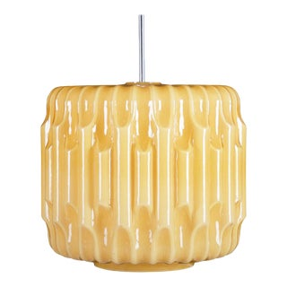 Large Mid-Century Glass Hanging Lamp, 1960s