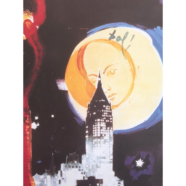 "Salvador Dali ""Manhattan Skyline Tarot the Moon"" Original Limited Edition Lithograph - Image 6 of 8"