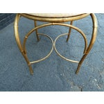 Image of Mid-Century Whimsical Gilded High Back Chair
