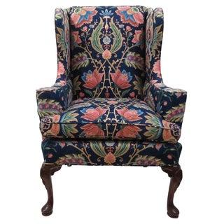 Georgian-Style Wingback Chair