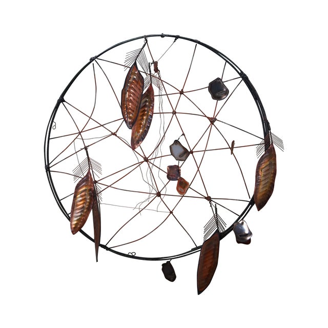 Curtis Jere Metal Dreamcatcher Wall Sculpture - Image 1 of 10
