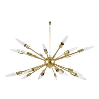 Brass 24-Arm Sputnik Chandelier, circa 1960s