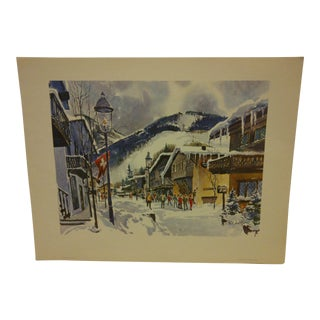 "Phil Austin ""Vail Village"" United Airlines Print"