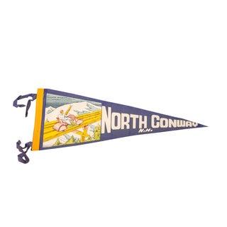 North Conway, NH Felt Flag