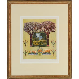 California Wine Country Lithograph