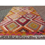 Image of Vintage Handwoven Turkish Kilim Rug - 5'3 x 9'