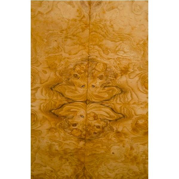 Mid-Century Milo Baughman Burled Wood Credenza - Image 4 of 8