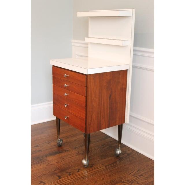 Vintage Rosewood 5-Drawer Cabinet on Casters - Image 2 of 9