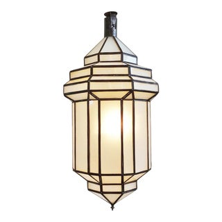 Frosted Glass Hanging Lantern