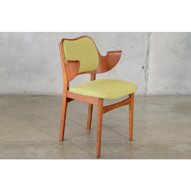 Hans Olsen Bent Teak & Oak Arm Chair - Image 2 of 8