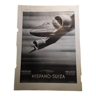 1938 French Ad for Hispano-Suiza