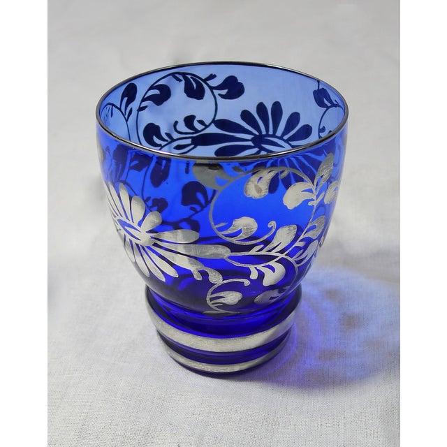 Vintage Venetian Blue Decanter Cordial Set of 6 - Image 5 of 5