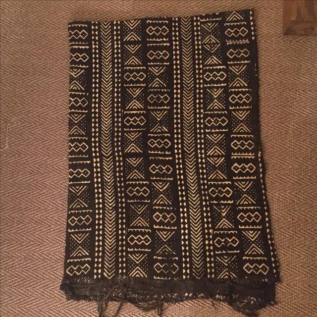 Black & Ivory African Mud Cloth - Image 2 of 5