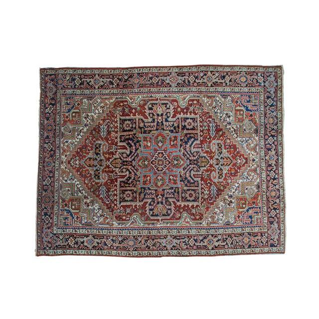 "Traditional Vintage Heriz Carpet - 8'2"" X 10'4"" - Image 1 of 10"